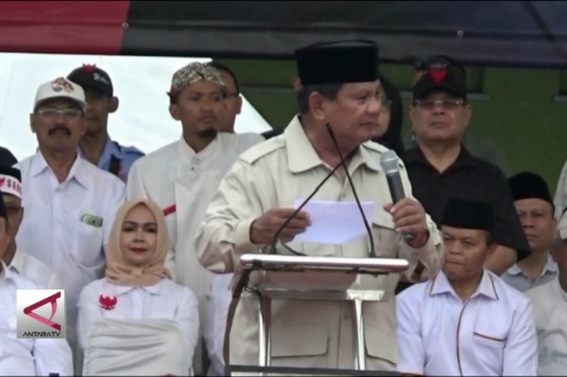 Prabowo kutip pidato Bung Karno saat kampanye