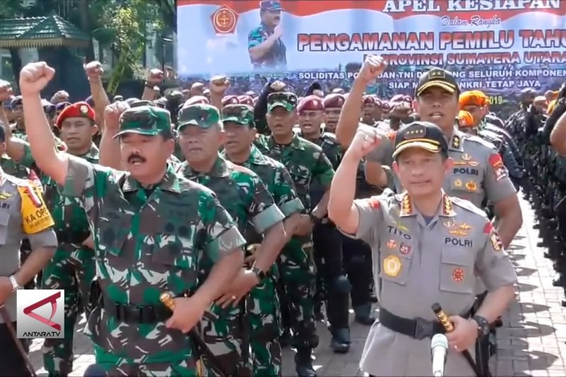 Panglima TNI & Kapolri cek kesiapan pengamanan pemilu Sumut