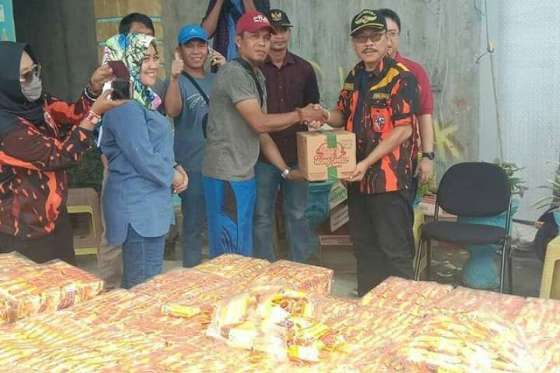 Pemuda Pancasila bantu korban banjir Mamuju
