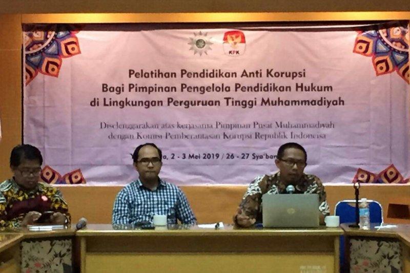 KPK selenggarakan pelatihan antikorupsi Perguruan Tinggi Muhammadiyah