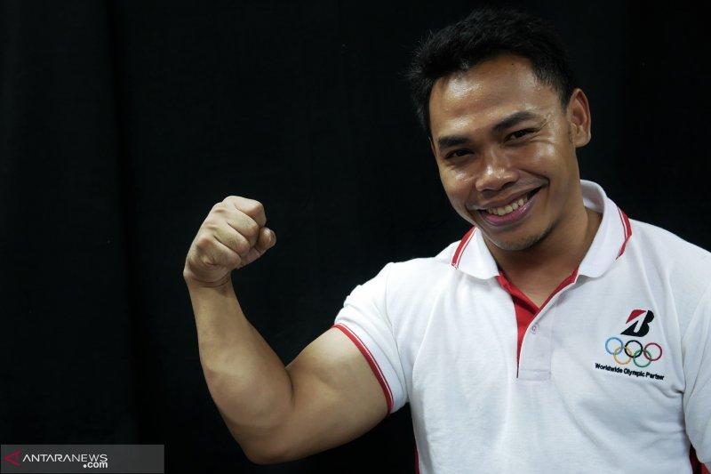 Eko Yuli atlet angkat besi Indonesia tetap latihan sembari puasa di Bulan Ramadhan