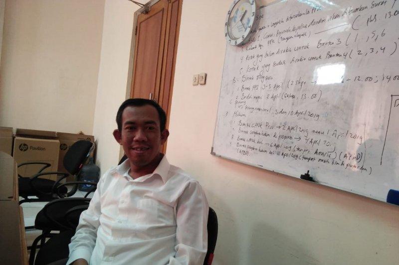 Rapat pleno KPU Tangerang terkendala laporan enam PPK lambat
