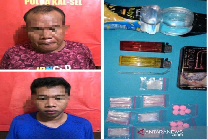 Ayah dan anak ditangkap saat konsumsi sabu