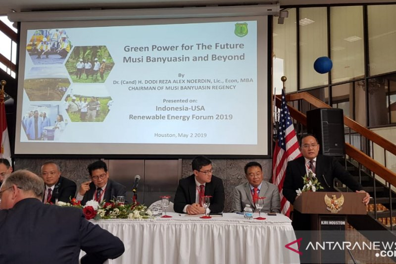 Bupati Muba Dodi Reza  bicara biofuel sawit di Houston AS
