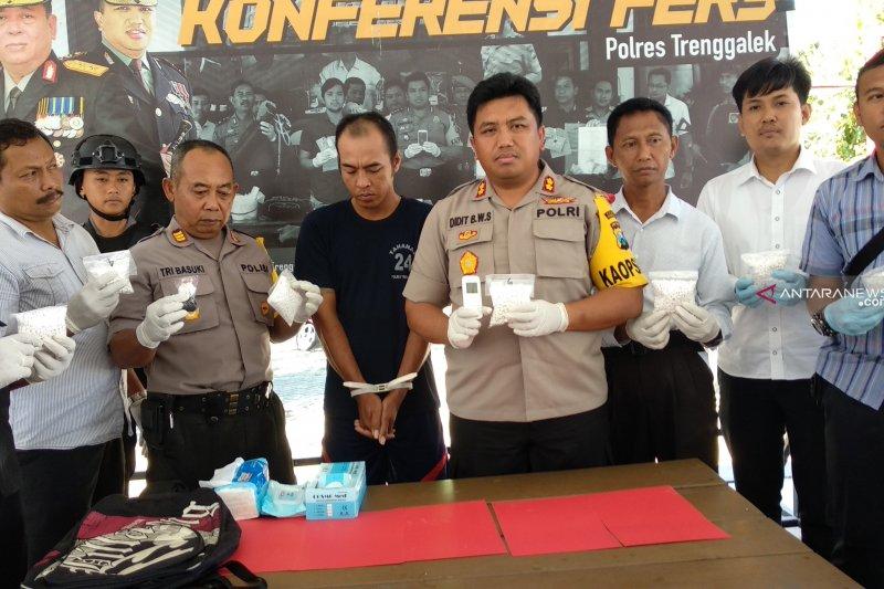 Polisi bekuk residivis pengedar narkoba di pedalaman Trenggalek