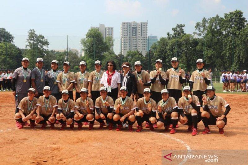 Kalahkan China, Jepang juarai Womens Softball Asia Cup 2019