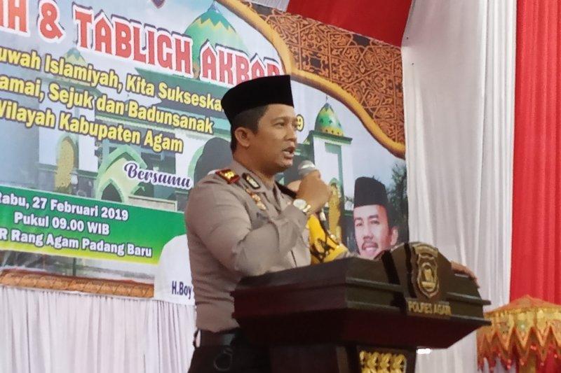 Polres Agam amankan tempat ibadah selama Ramadhan
