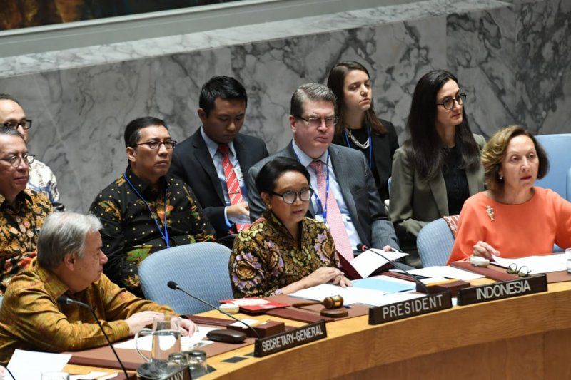 Menlu Retno: Pasukan penjaga perdamaian contoh nyata kemitraan global