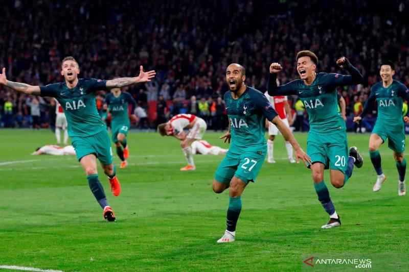 Semangat juang kunci kemenangan Spurs atas Ajax