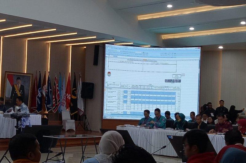 Rekapitulasi nasional KPU tetapkan Jokowi raih 60,74 persen di Kalteng