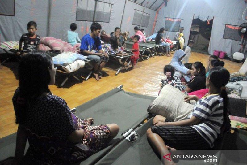 Warga korban pergerakan tanah nyaman di pengungsian