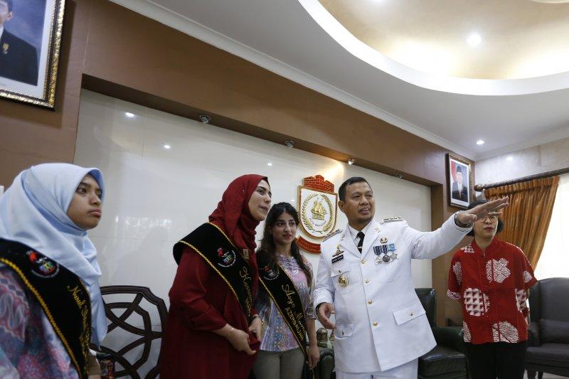Mahasiswa program beasiswa Kemenlu temui Pj Wali Kota Makassar