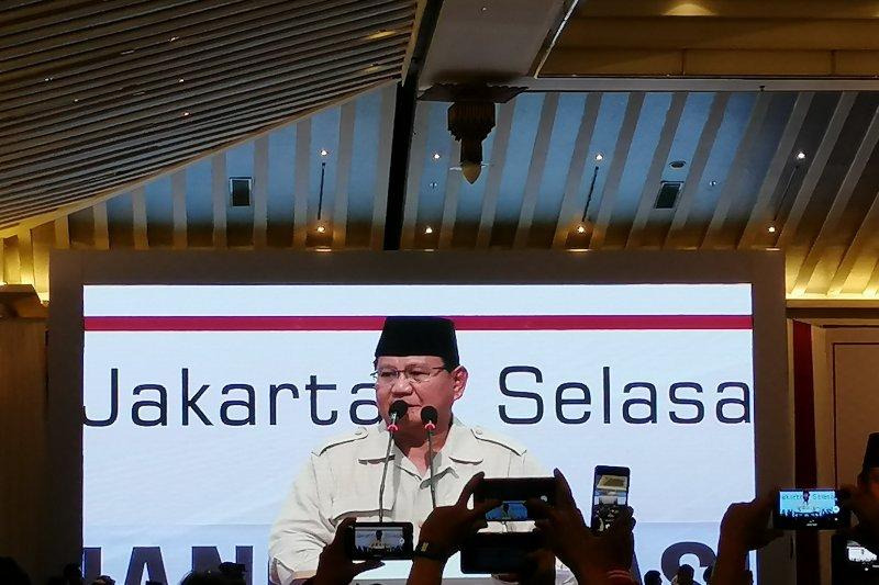 "Prabowo: demokrasi jalan terbaik bagi bangsa dan negara, namun ada ""pemerkosaan"""