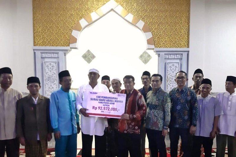 CSR BNI Wilayah Padang bantu renovasi Surau Baru Abdul Manan