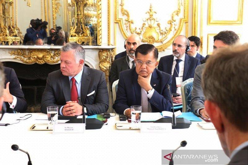 Wapres sampaikan tiga fokus dalam KTT Paris: Ekstrimisme Online