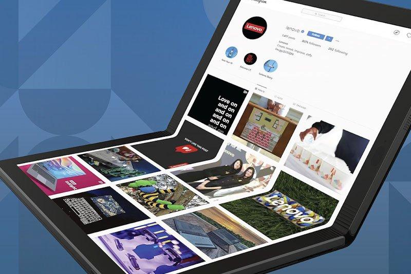 Laptop layar lipat Lenovo segera hadir di pasar