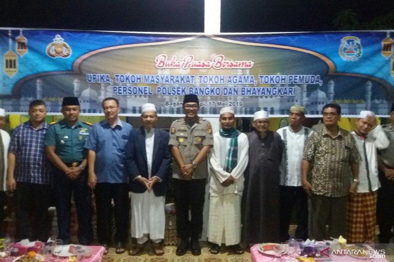 Jalin silaturahmi, Polsek Bangko buka puasa bersama masyarakat