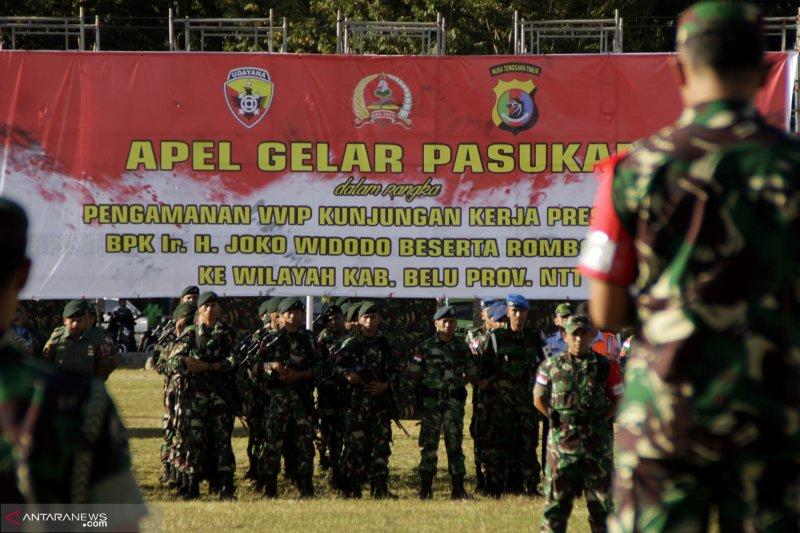 Ribuan personel amankan Presiden Jokowi di perbatasan