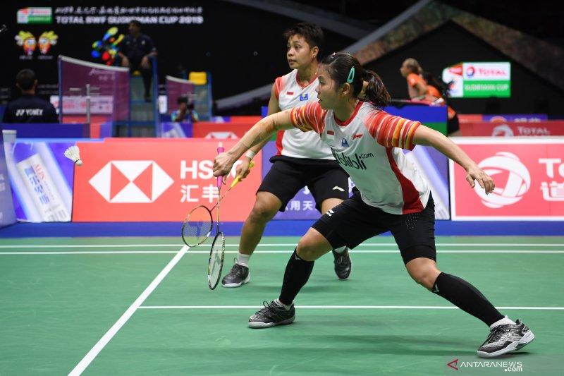 Greysia/Apriyani bawa Indonesia ungguli Inggris 4-0