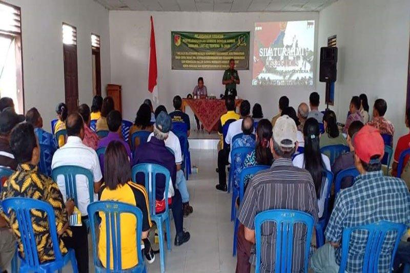 Koramil Tentena bangun komunikasi dengan masyarakat Pamona