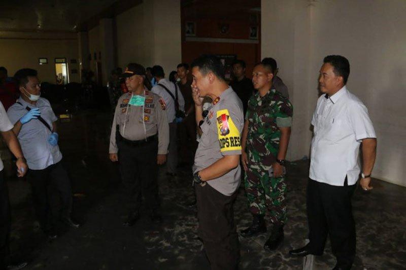 Tim Puslabfor akan selidiki kebakaran kantor Pemkab Pringsewu