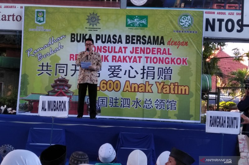 Konjen RRT Surabaya ucapkan selamat terpilihnya kembali Jokowi