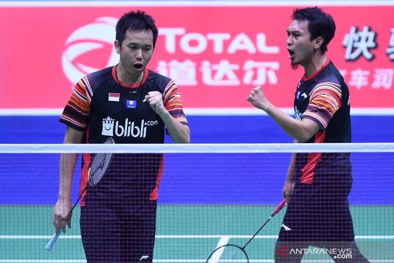 Hendra/Ahsan pasang target ke semifinal Indonesia Open