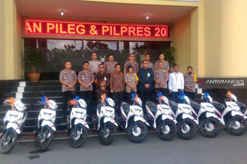 BRI serahkan bantuan 20 unit motor ke Polda Kalbar