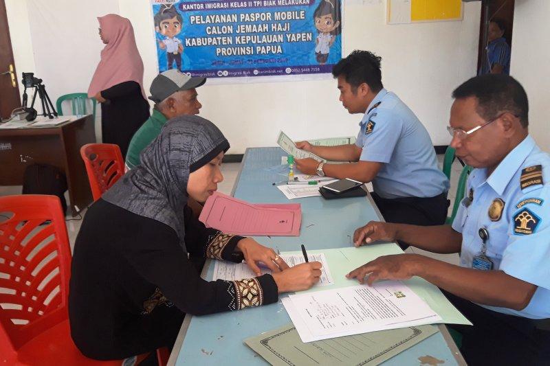 Kantor Imigrasi Biak terbitkan 262 paspor haji tiga kabupaten