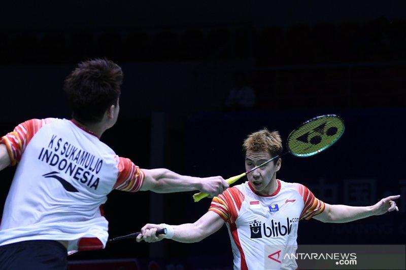 Marcus/Kevin buka kemenangan Indonesia atas Jepang semifinal Piala Sudirman 2019