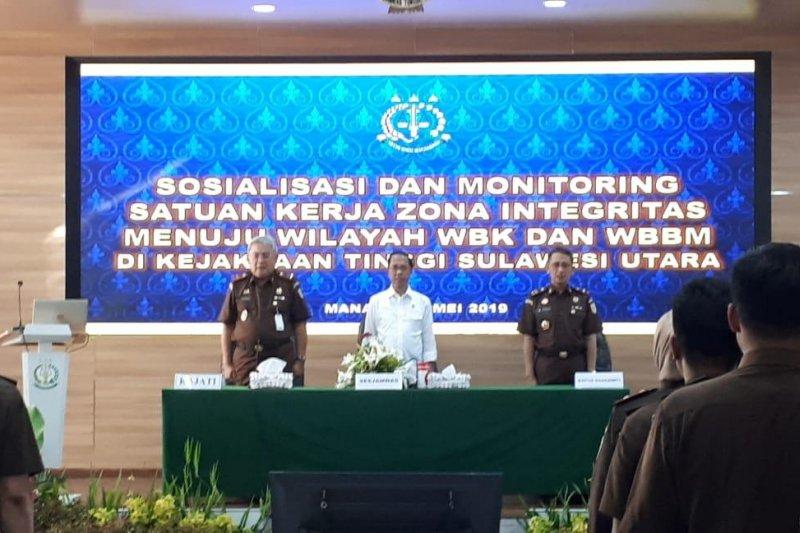 Sesjamwas monitoring pembangunan zona integritas Kejati Sulut