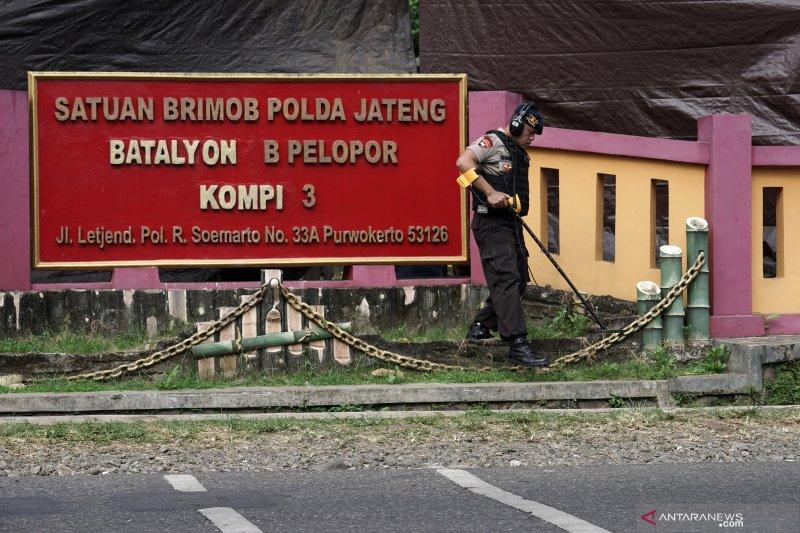 Olah TKP penembakan Mako Brimob Purwokerto