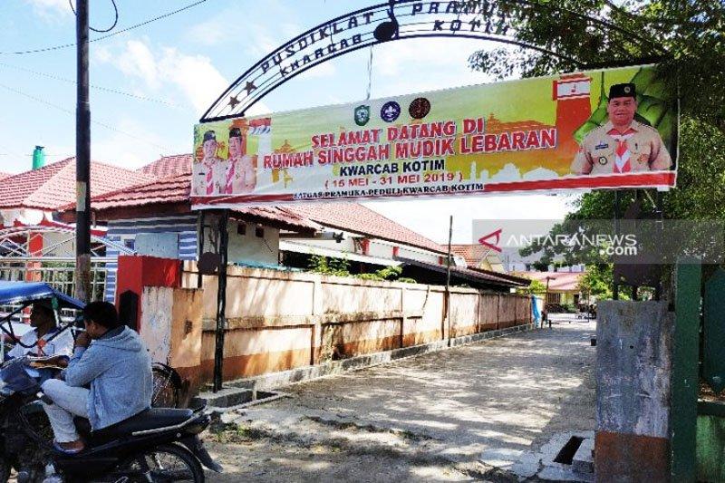 Sanggar Pramuka Kotawaringin Timur untuk rumah singgah pemudik Lebaran