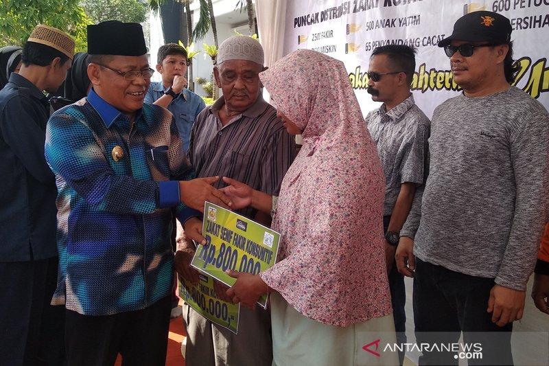 Baitul Maal salurkan zakat konsumtif ribuan untuk fakir miskin Aceh