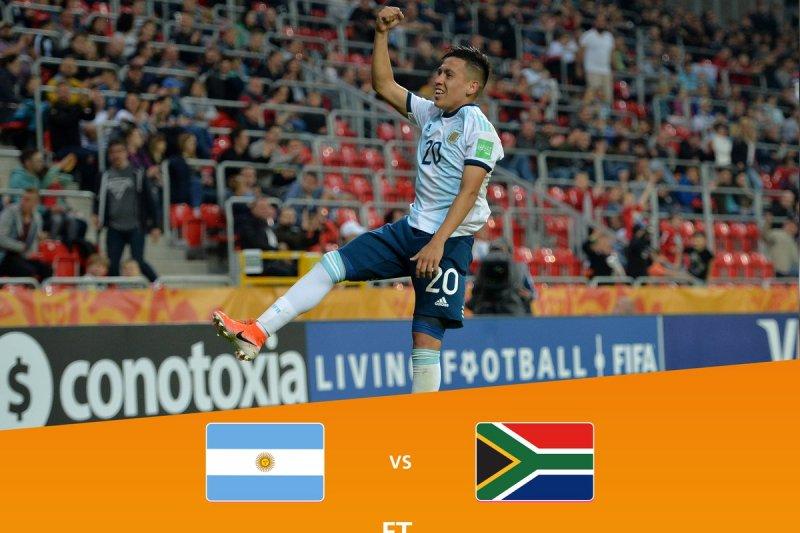 Timnas Argentina kalahkan Portugal 2-0 di Piala Dunia U20