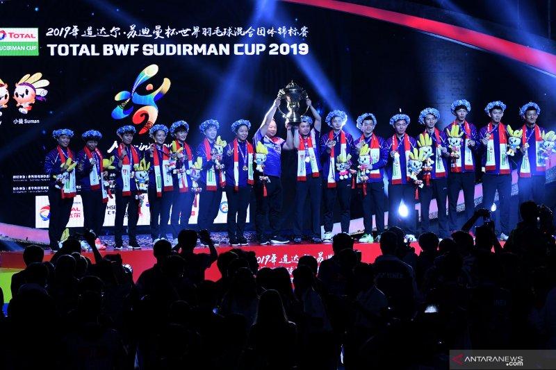 China boyong Piala Sudirman kesebelas kalinya usai kalahkan Jepang