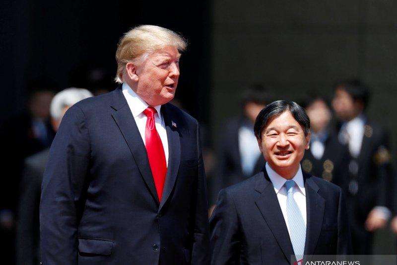Donald Trump di sambut Kaisar Jepang Naruhito