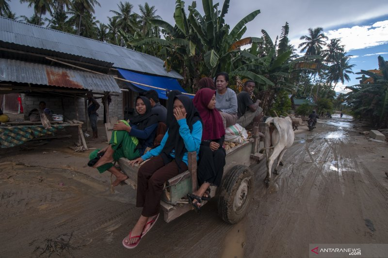 Hujan deras rendam puluhan rumah di Palu