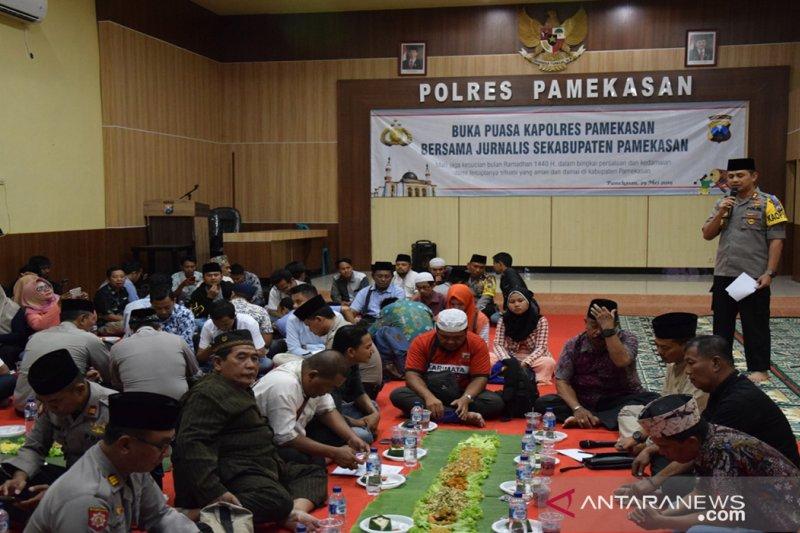 Jurnalis Pamekasan dukung TNI-Polri ciptakan suasana kondusif