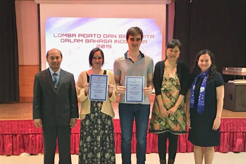 Juara pidato dan cerita, pelajar Perancis bahas  toleransi