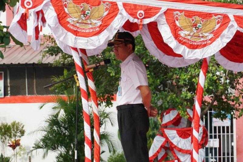 Rutan Makassar gelar upacara hari lahir Pancasila
