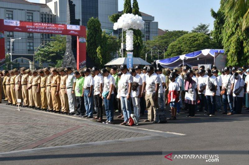 Pemudik gratis ikuti upacara Hari Lahir Pancasila di Semarang