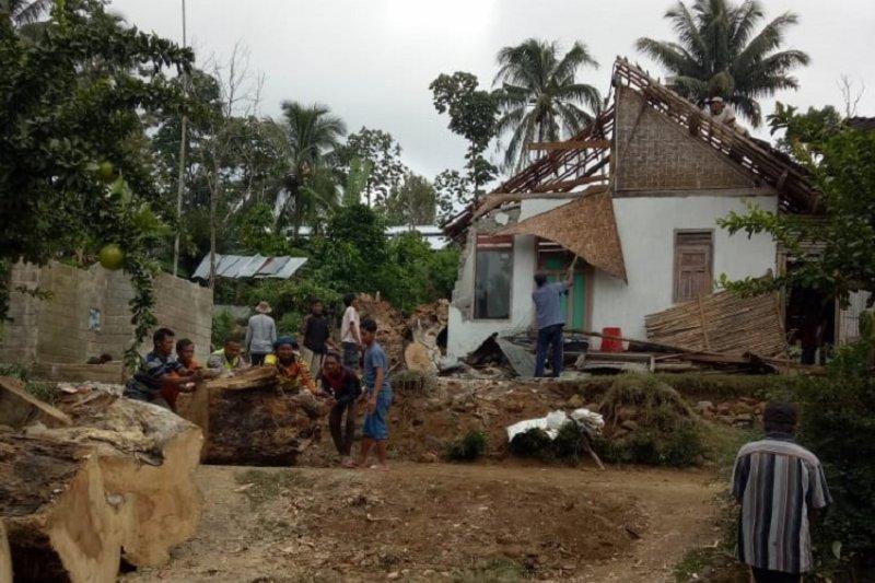 Pohon tumbang menimpa dua rumah di Blitar