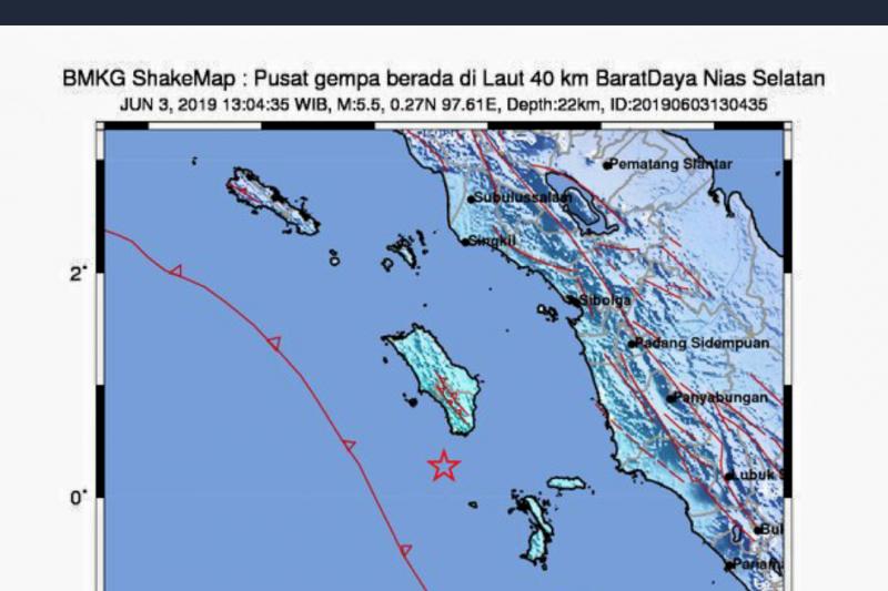 Gempa 5,2 magnitudo di akibat aktivitas tektonik