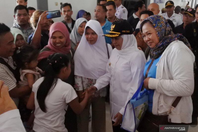 Gubernur Jawa Timur tinjau arus mudik