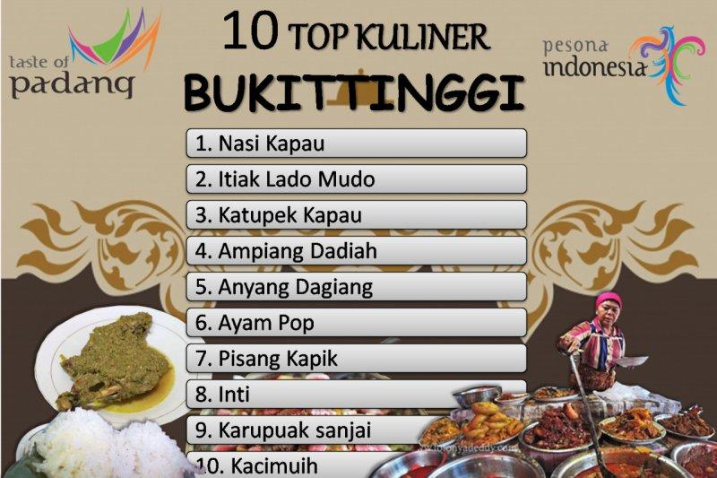 Manjakan lidah dengan 10 pilihan kuliner di Bukittinggi