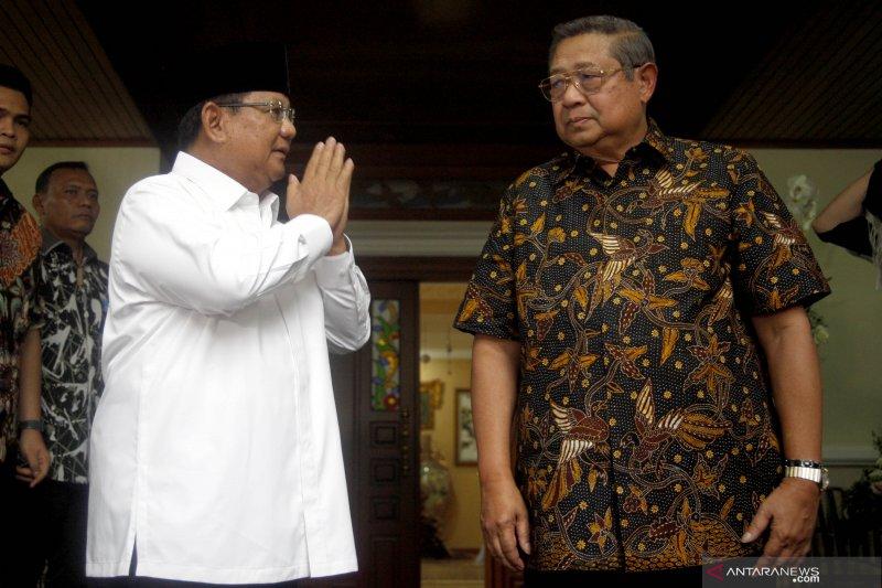 Prabowo melayat ke kediaman SBY