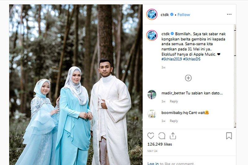 """Ikhlas"", kolaborasi Nissa Sabyan,  Siti Nurhaliza dan Taufik Batisah"