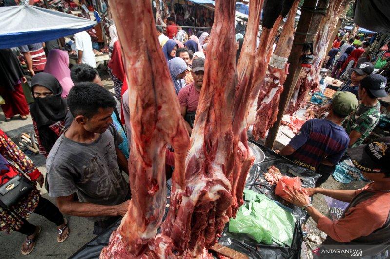 Jelang Lebaran, harga daging sapi tidak naik di Padang