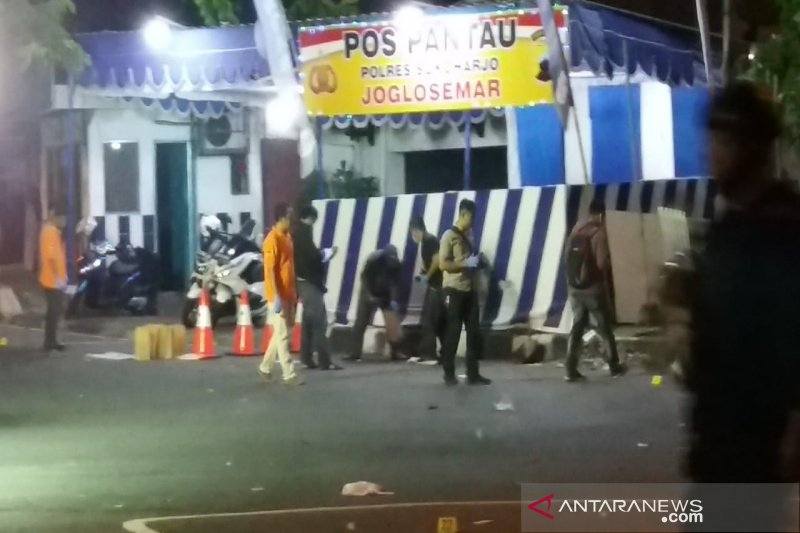 Polisi lakukan olah TKP bom Pospam Kartasura